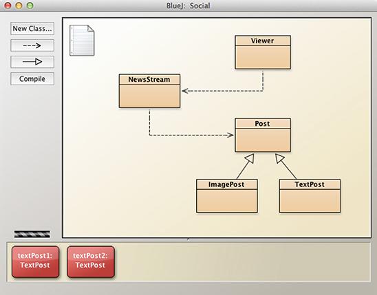 BlueJ's visual class browser